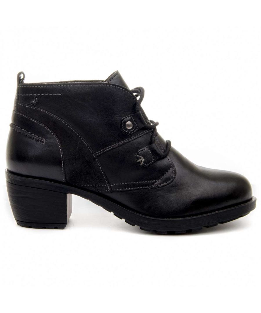 Image for Purapiel Heeled Ankle Boot in Black