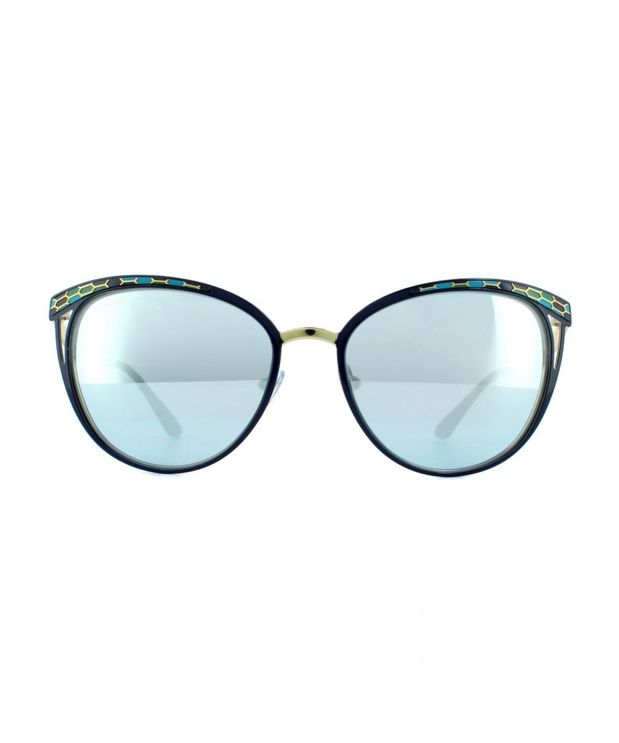 Image for Bvlgari Sunglasses 6083 20206J Blue Pale Gold Blue Mirror White