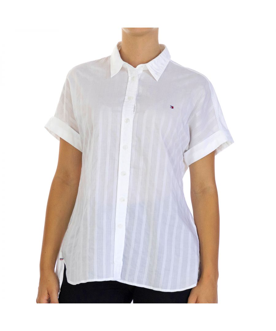 Image for Tommy Hilfiger Women's S/S Shirt Rayla Half Sleeve White
