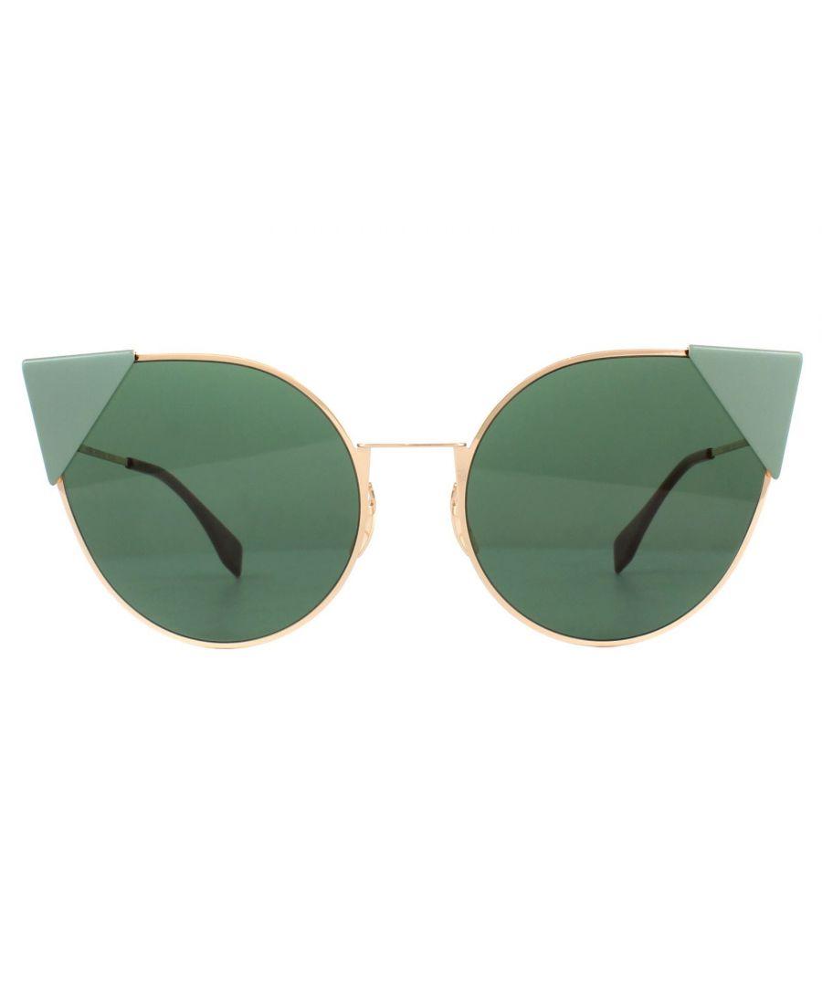 Image for Fendi Sunglasses 0190/S DDB O7 Gold Copper Green