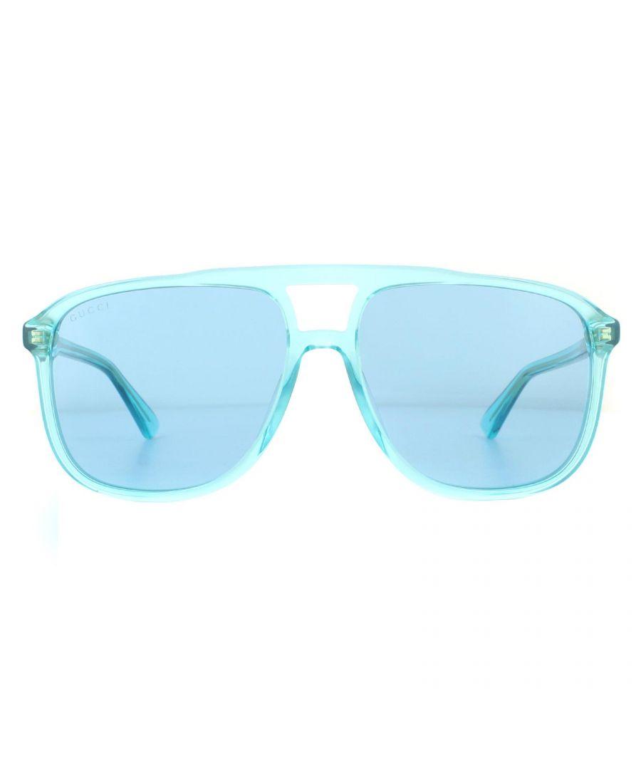 Image for Gucci Sunglasses GG0262S 003 Light Blue Crystal Light Blue