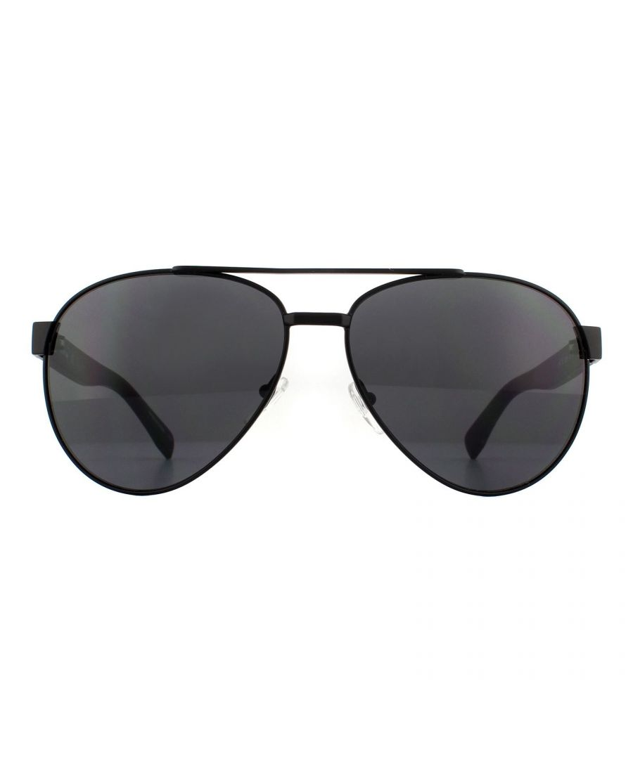 Image for Lacoste Sunglasses L185S 001 Matte Black Grey