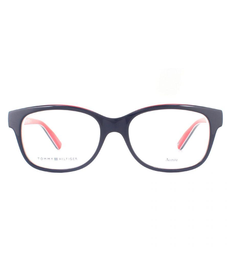 Image for Tommy Hilfiger Glasses Frames TH 1017 UNN Blue Red White Women