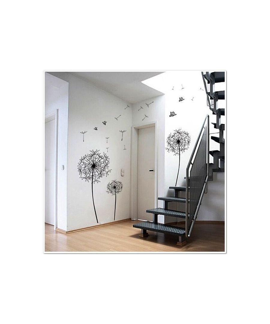 Image for Huge Black Dandelion Wall Stickers, Kitchen, Bathroom, Living room, Self-adhesive, Decal, Decoration,DIY,  Flowers