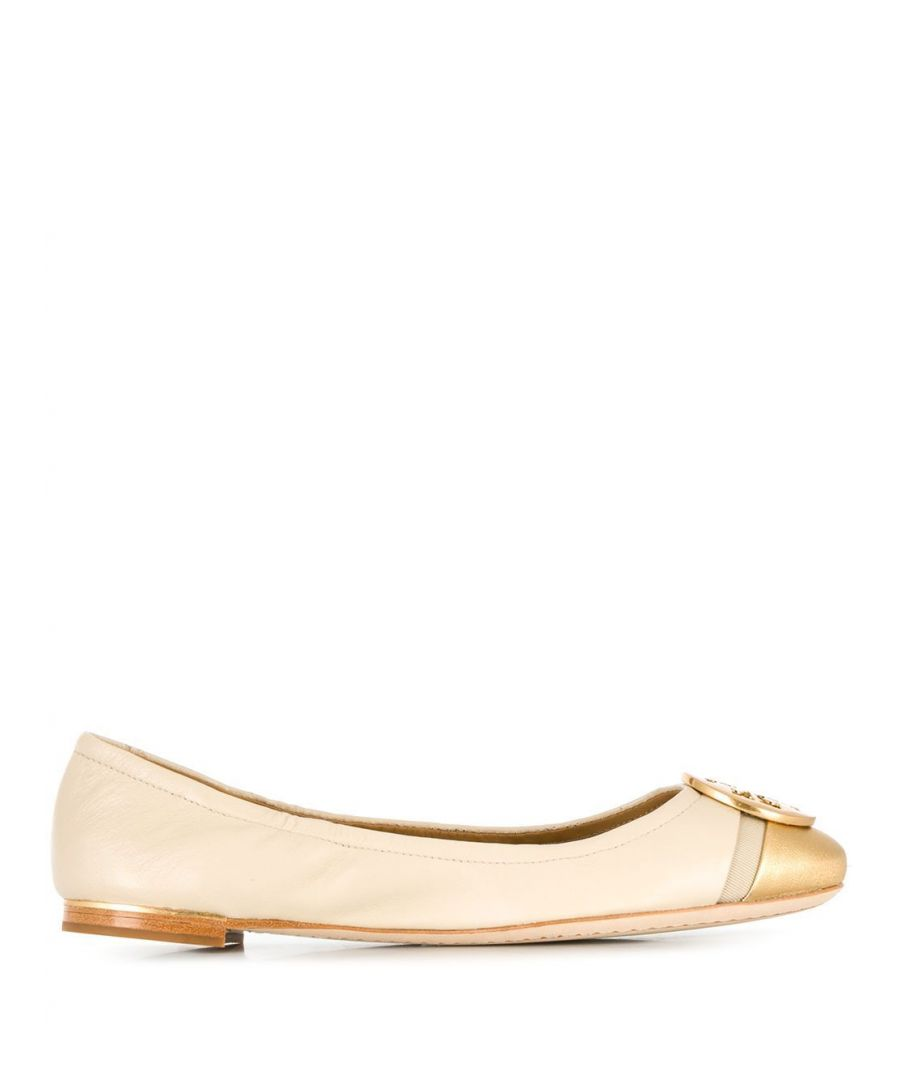 Image for TORY BURCH WOMEN'S 63177253 BEIGE LEATHER FLATS