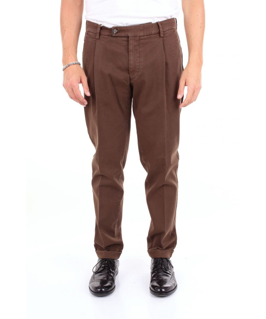 Image for MICHAEL COAL MEN'S FREDERICK2554CBROWN BROWN COTTON PANTS