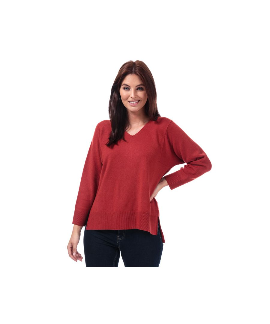 Image for Women's French Connection Ebba Vhari V-Neck Jumper in Rust