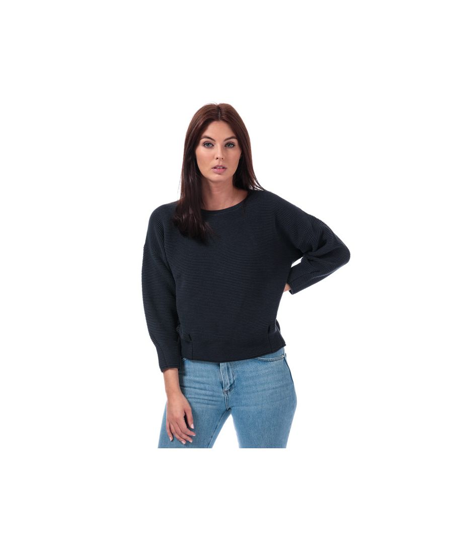 Image for Women's French Connection Ottoman Mozart Pleat Jumper in Dark Blue
