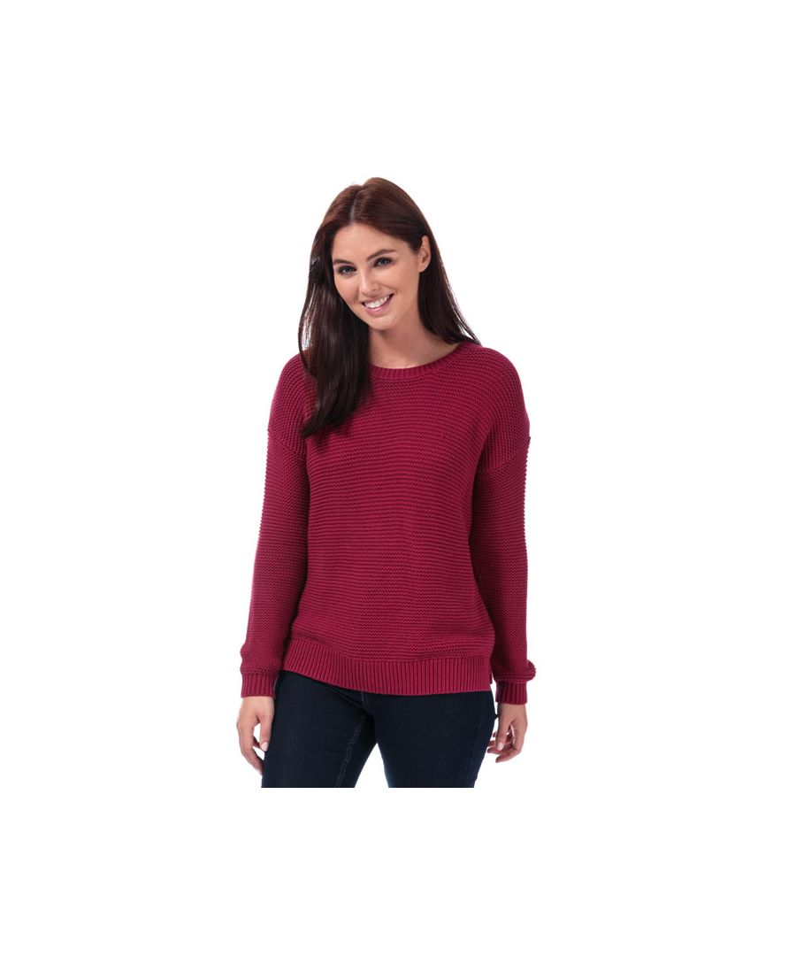 Image for Women's French Connection Mara Mozart Crew Neck Jumper in Berry