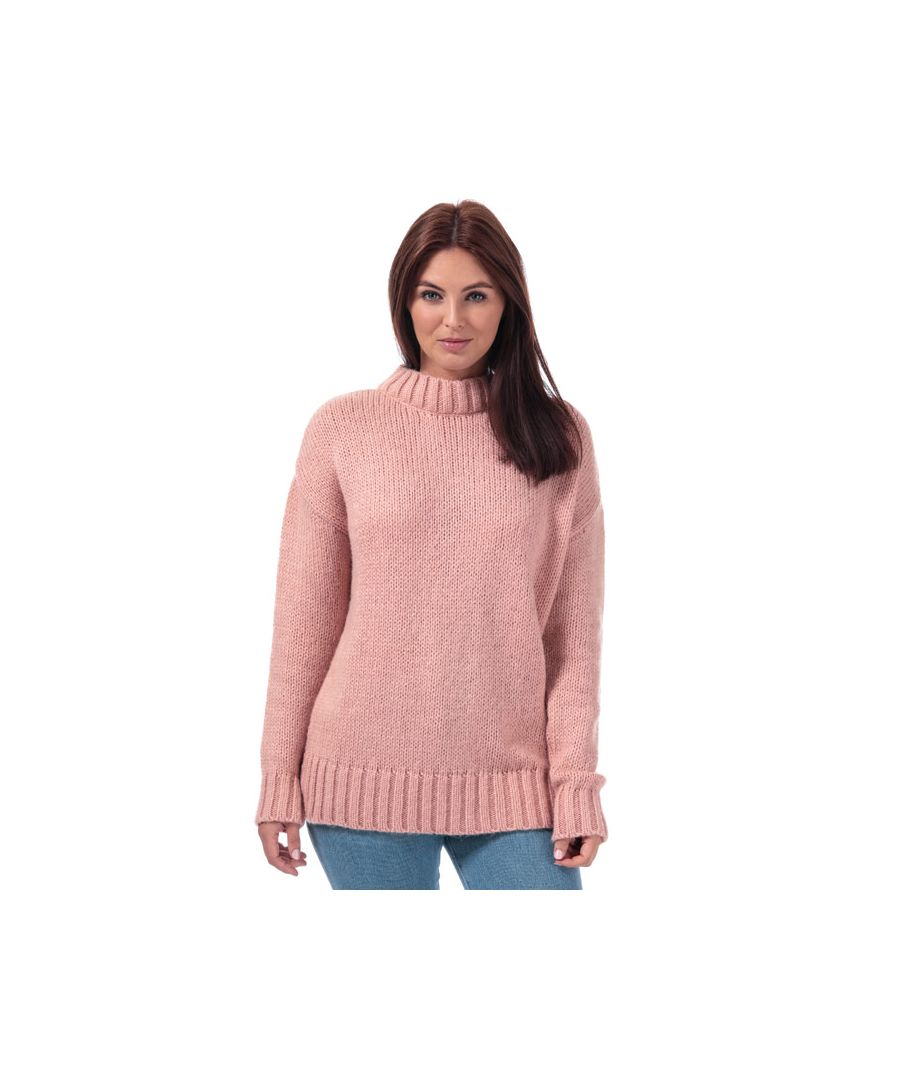 Image for Women's French Connection Snuggle Knit Crew Neck Jumper in Dusky Pink