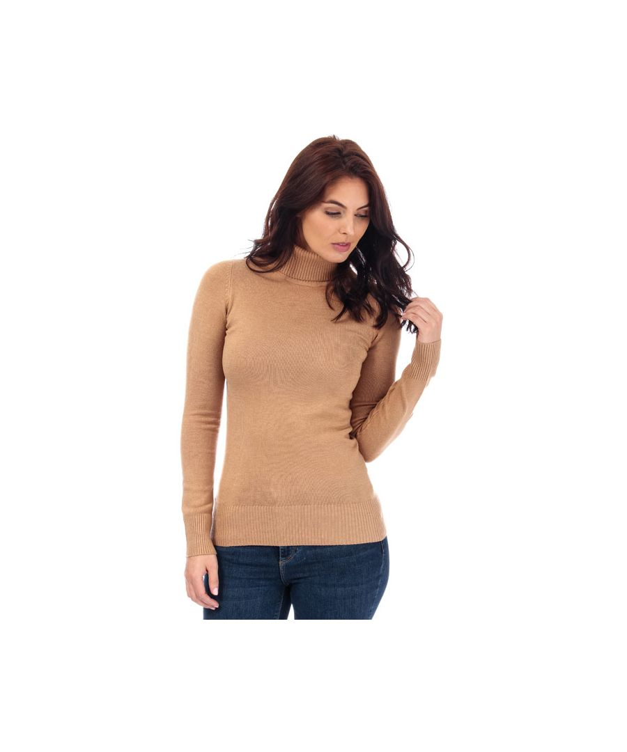 Image for Women's French Connection Babysoft Roll Neck Jumper in Camel