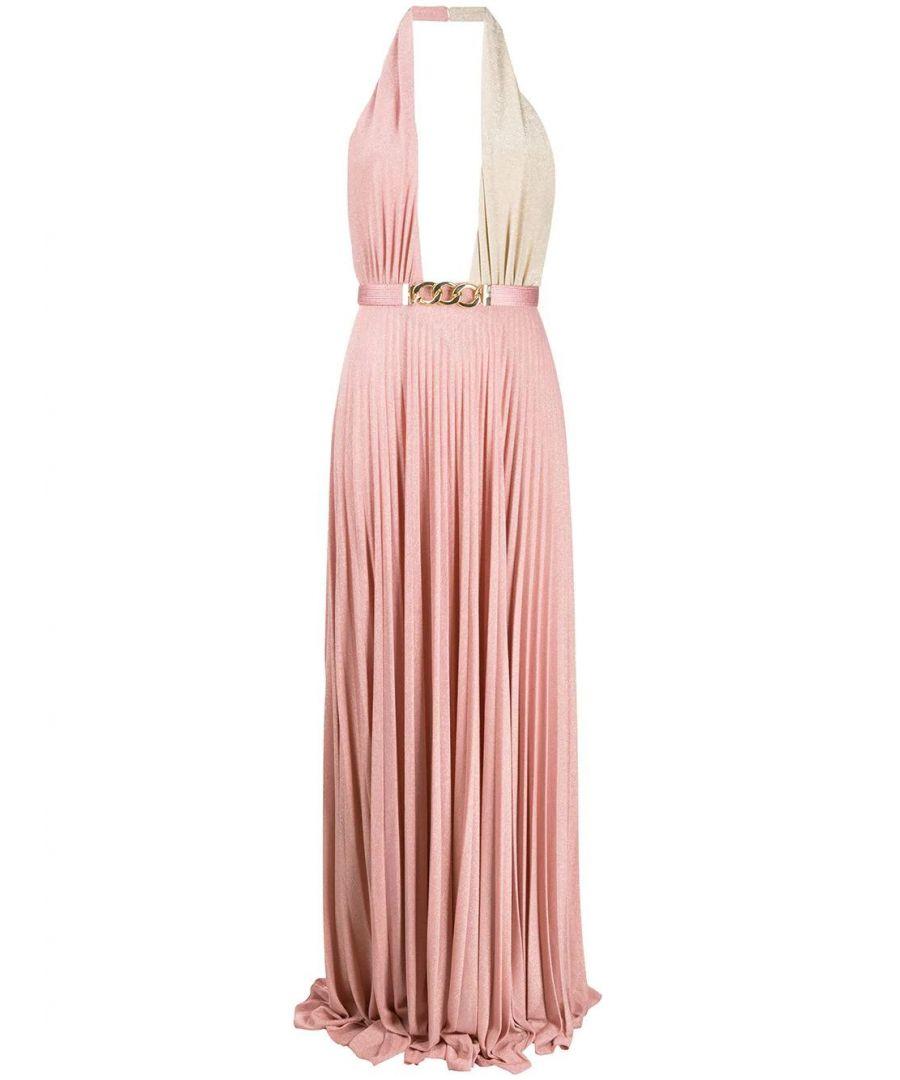 Image for ELISABETTA FRANCHI WOMEN'S AB16201E2X01 PINK VISCOSE DRESS