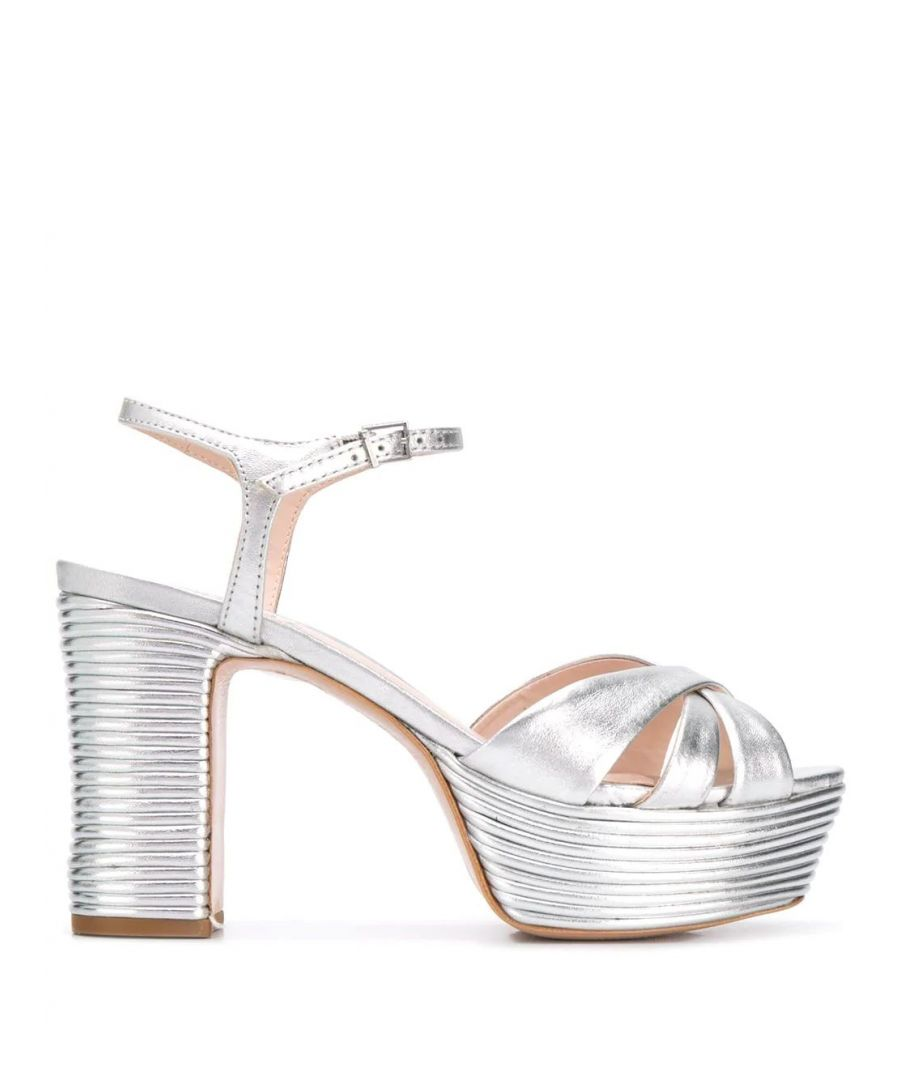 Image for SCHUTZ WOMEN'S S2034601080008 SILVER LEATHER SANDALS