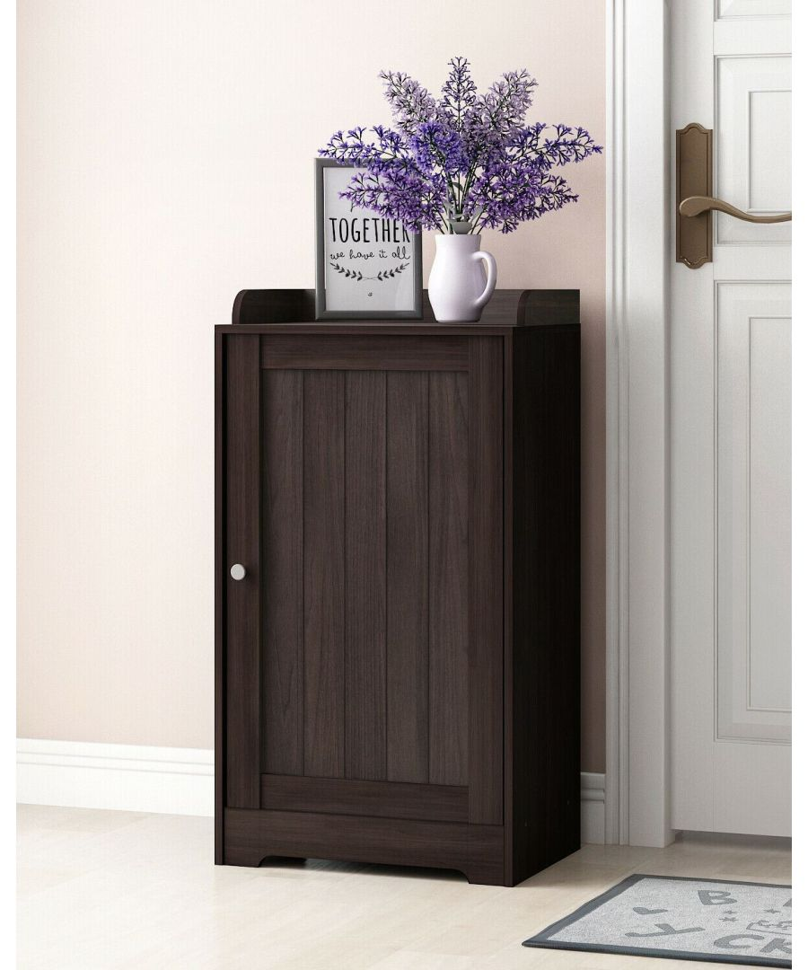Image for Furinno Indo Standing Louver Door Cabinet - Espresso
