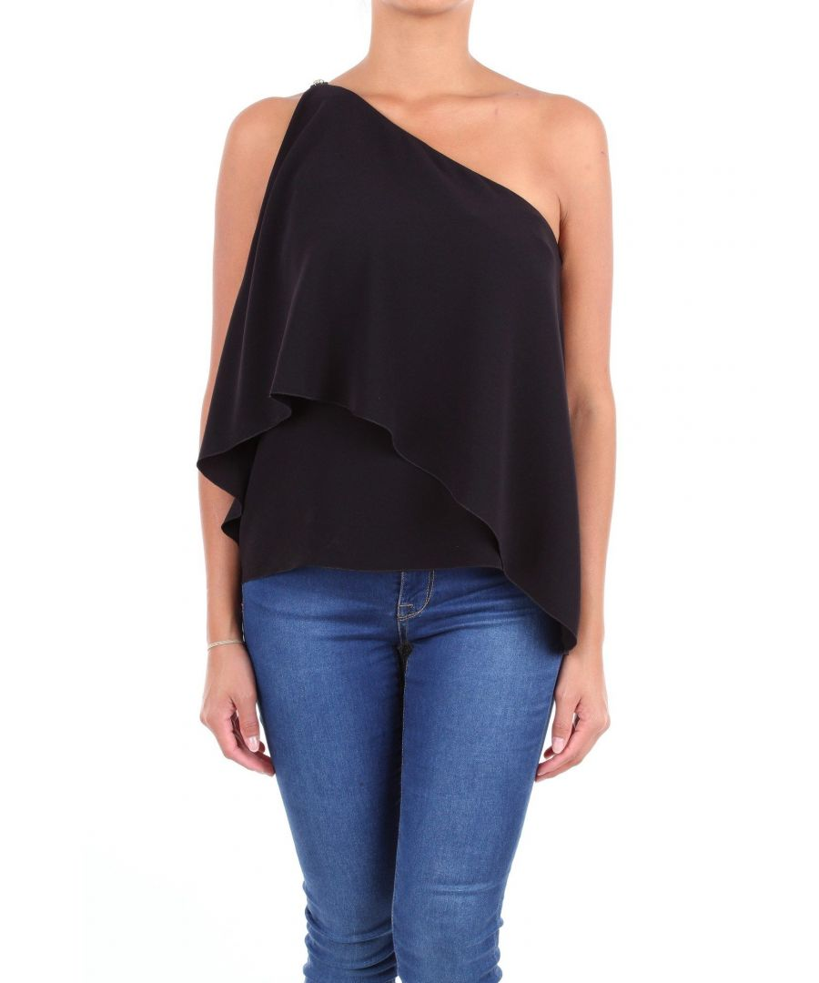 Image for LES COPAINS WOMEN'S 0J2060BLACK BLACK POLYESTER TOP