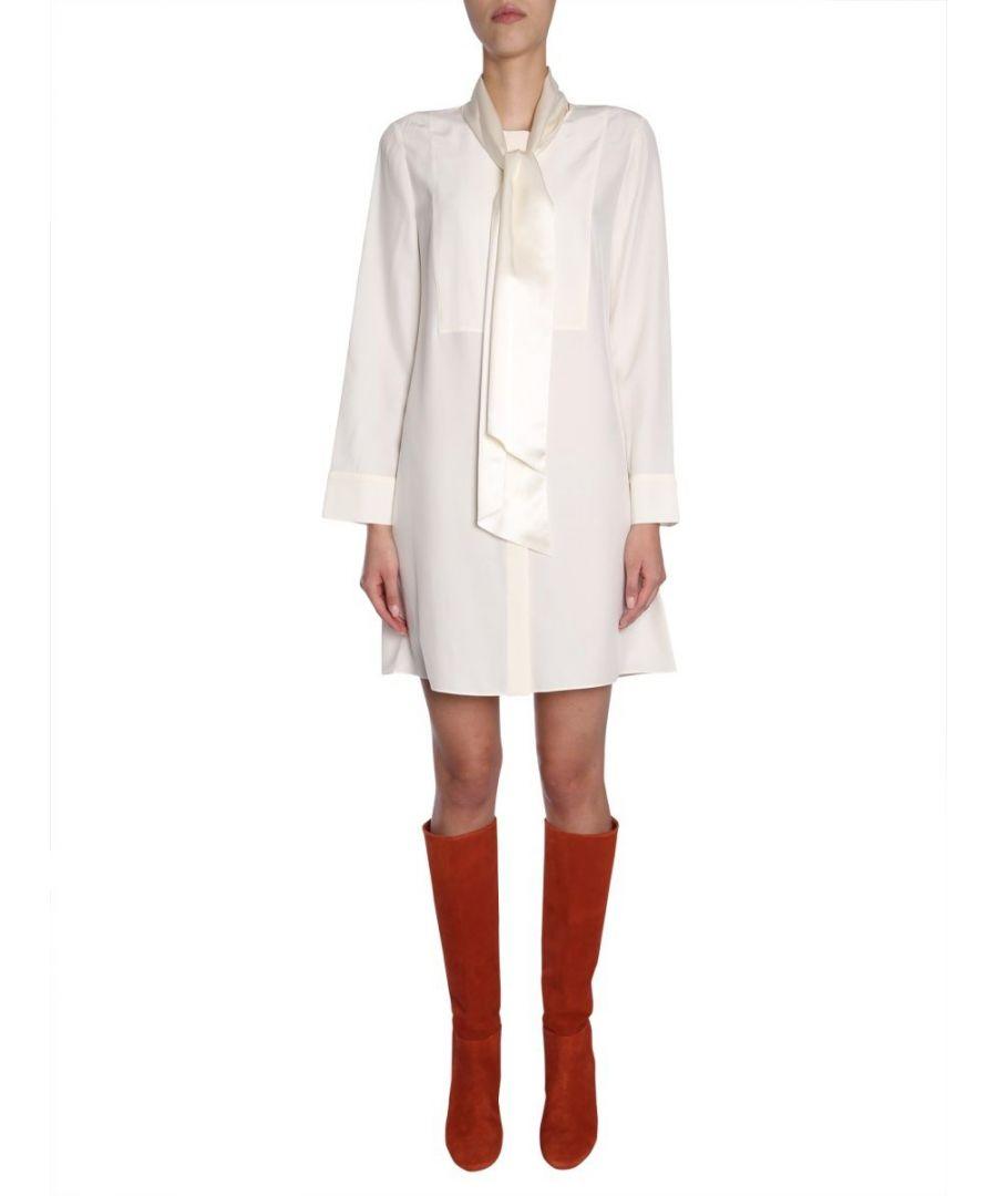 Image for TORY BURCH WOMEN'S 47383104 WHITE SILK DRESS