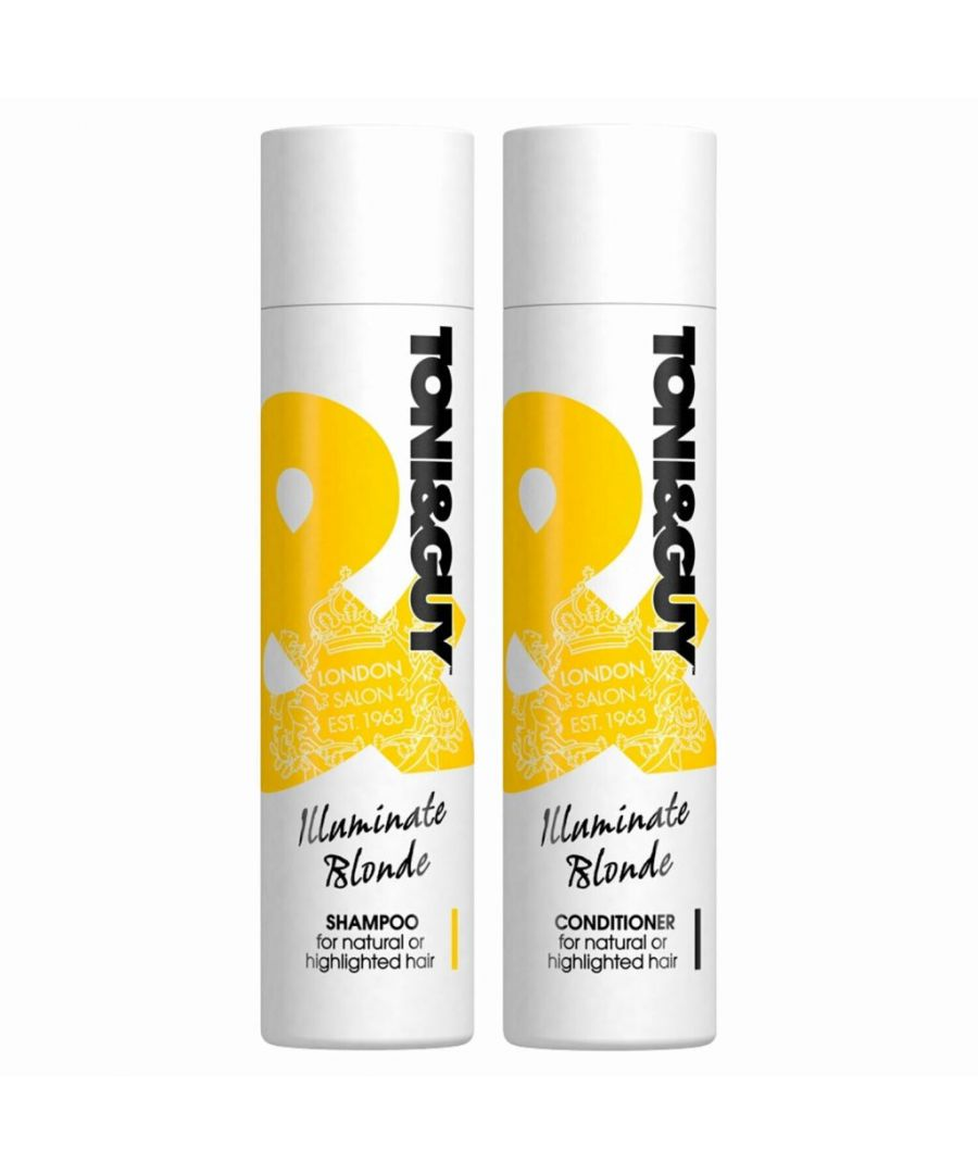 Image for Toni & Guy Illuminate Blonde Shampoo & Conditioner 250ml
