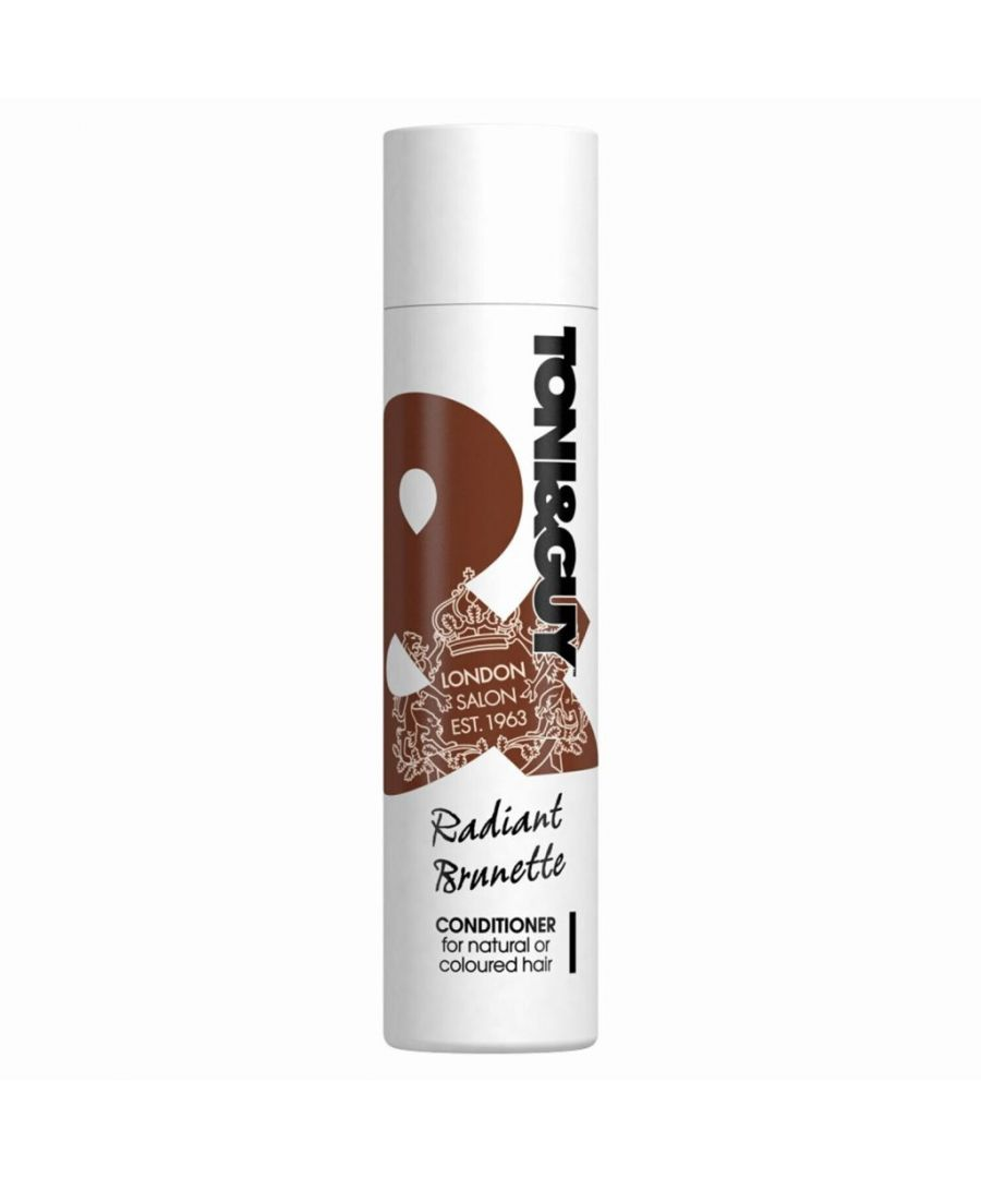 Image for Toni & Guy Radiant Brunette Conditioner For Natural and Coloured Hair 250ml