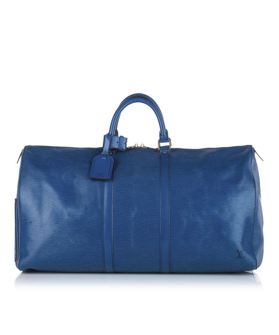 Image for Vintage Louis Vuitton Epi Keepall 55 Blue