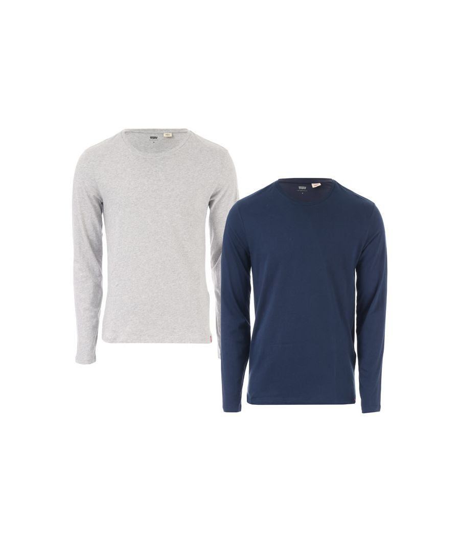Image for Men's Levis 2 Pack Longsleeve T-Shirts in Blue