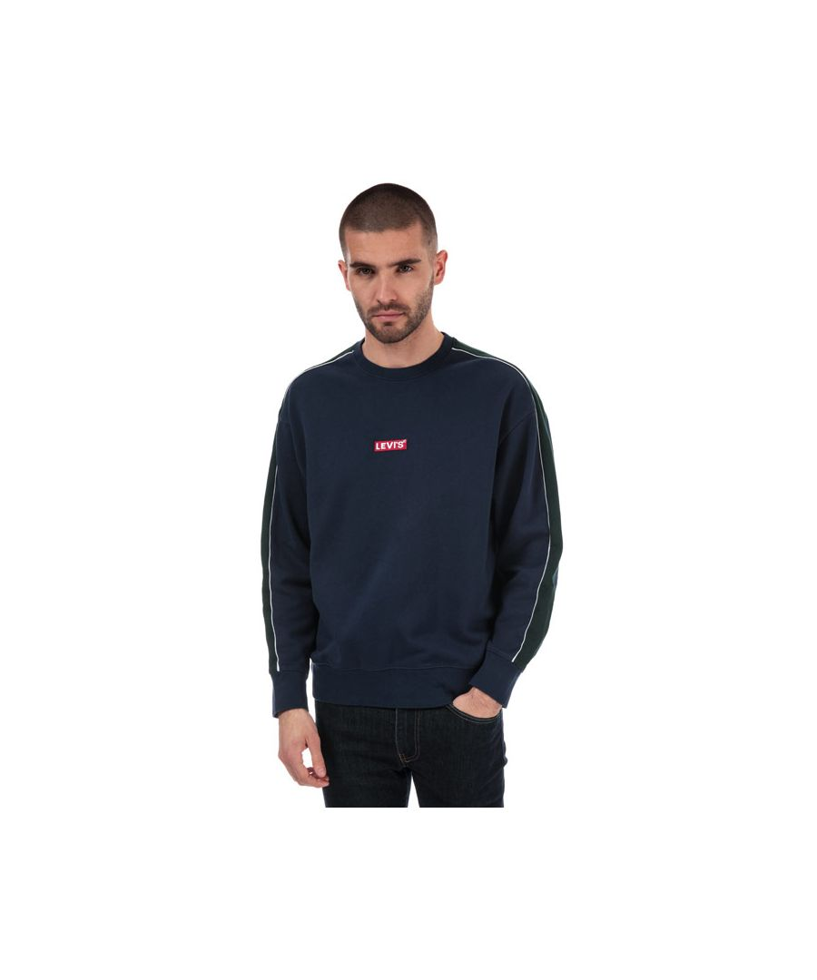 Image for Men's Levis Relaxed Babytab Crew Sweat in Navy