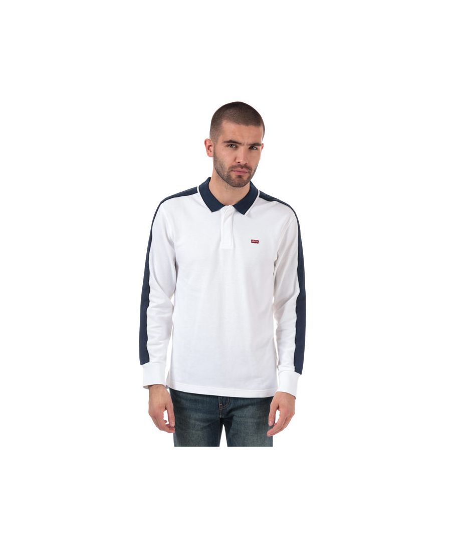 Image for Men's Levis Long Sleeve Pieced Polo Shirt in White
