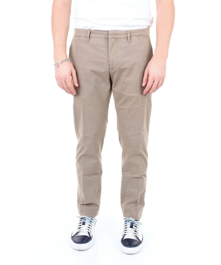 Image for SIVIGLIA MEN'S B2E6S007VERDEOLIVA GREEN COTTON PANTS