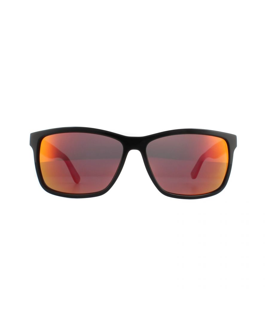 Image for Lacoste Sunglasses L705S 003 Black Grey Red Mirror
