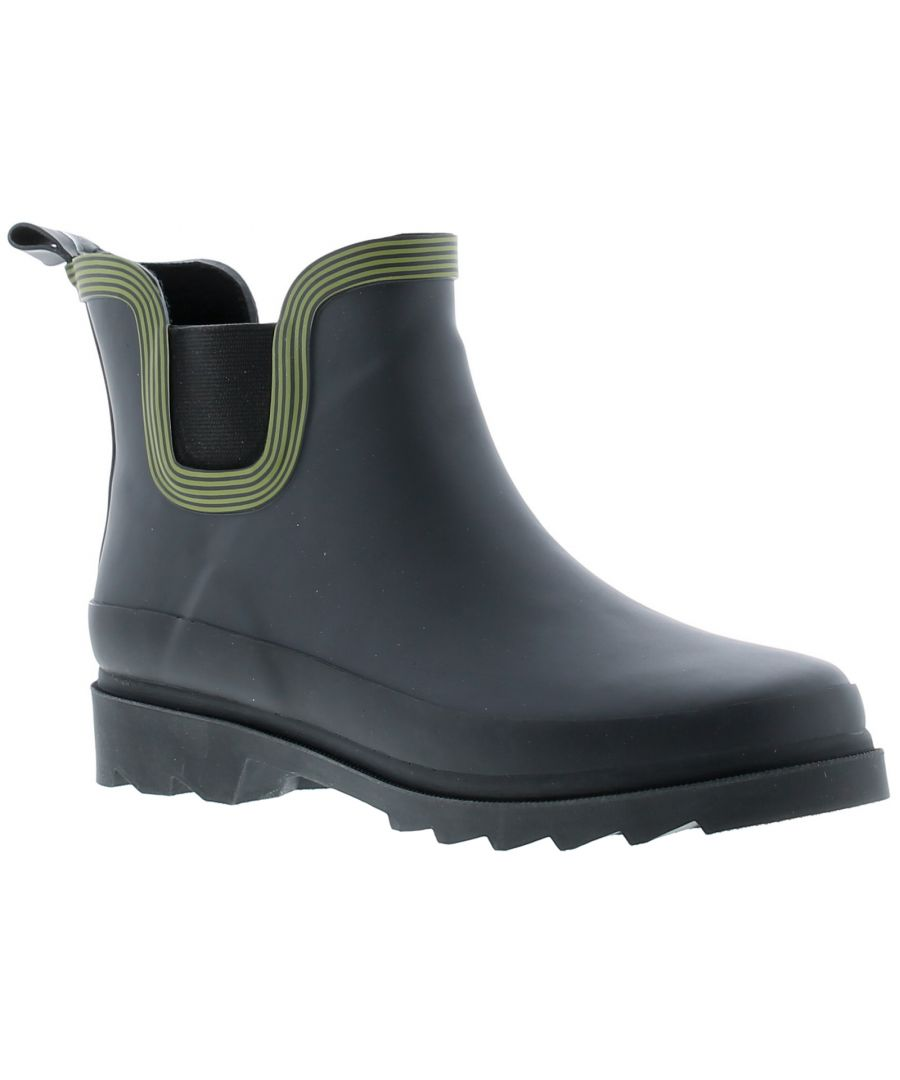 Image for Ladies Rubber Ankle Wellington Elasticated Gusset To The Side Wall Pull Tab To Heel And Contrast Col