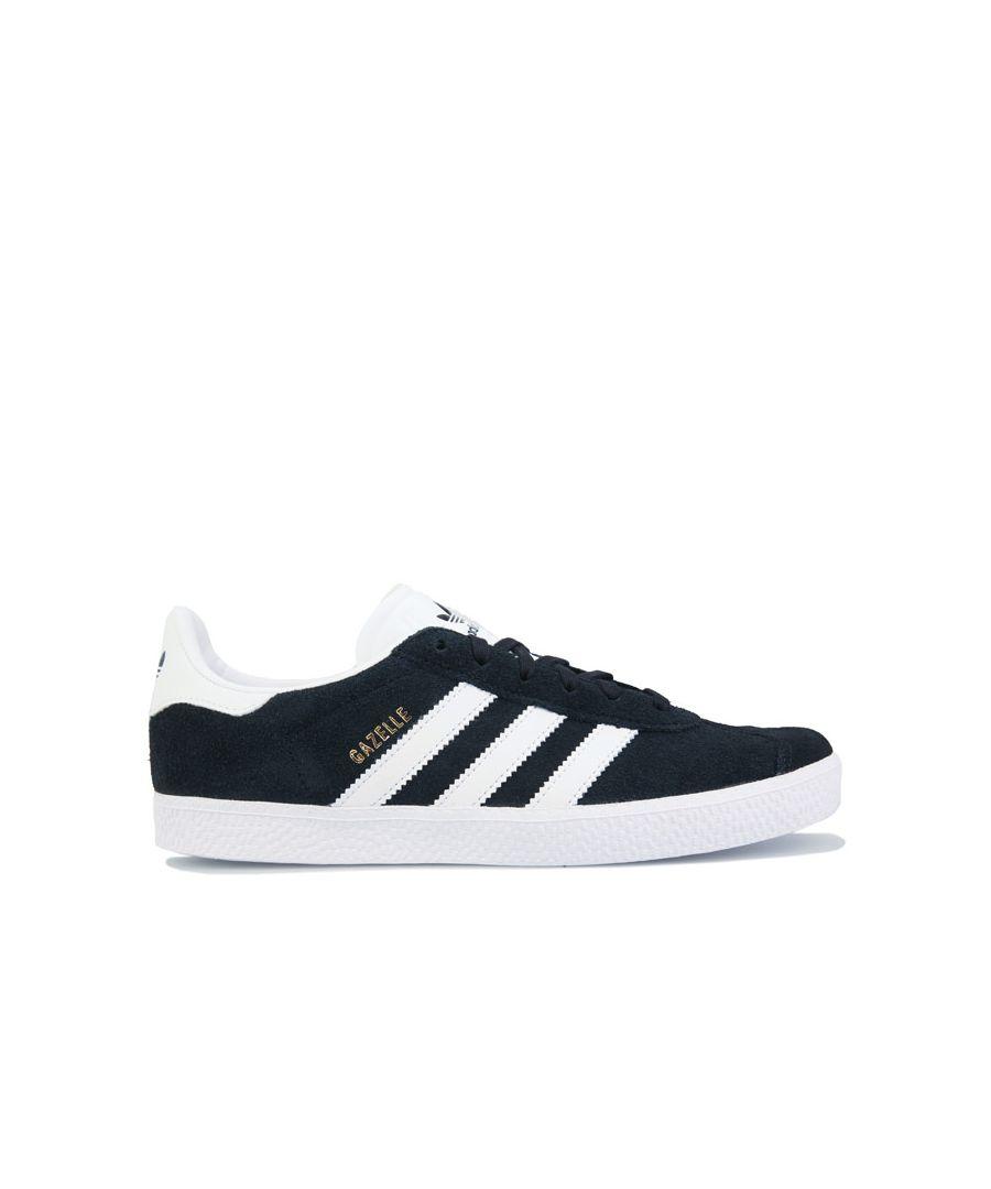 Image for Boy's adidas Originals Junior Gazelle Trainers in Black