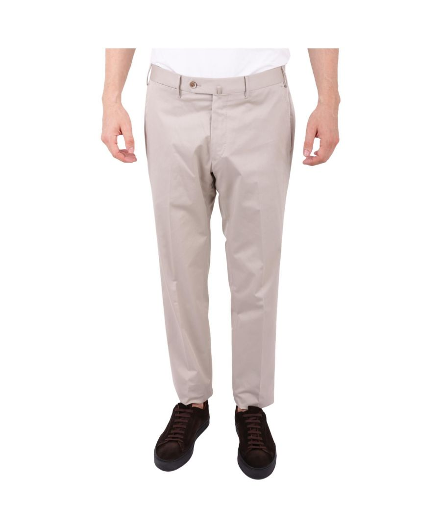 Image for PT01 MEN'S CONS01ZT0CLAMP280020 BEIGE COTTON PANTS