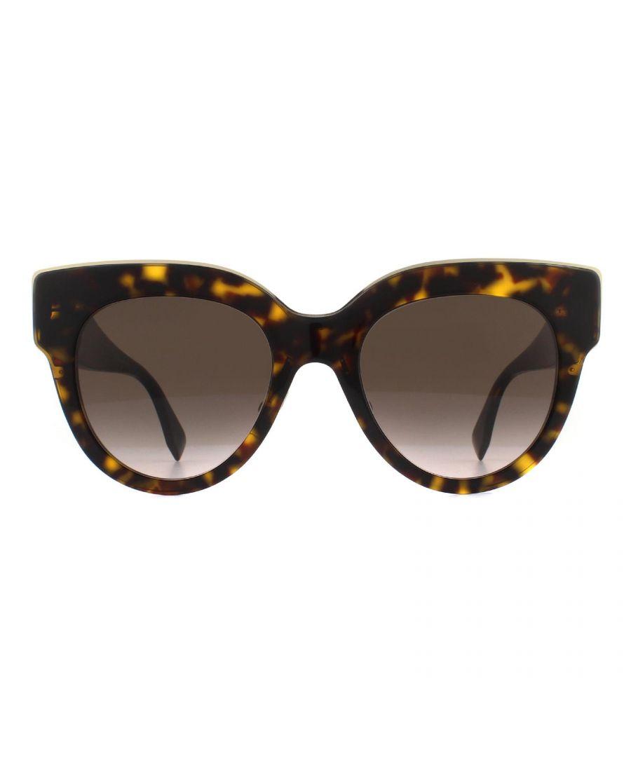 Image for Fendi Sunglasses FF 0360/G/S 086 HA Dark Havana Brown Gradient