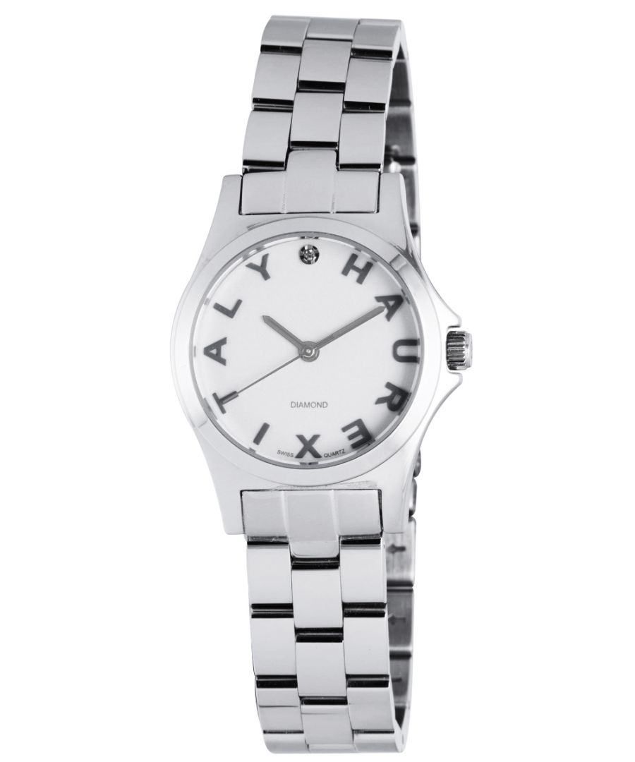 Image for Haurex Italy Women's 7A505DSS Diamond-Accented Mini City Stainless Steel Three Hands Watch