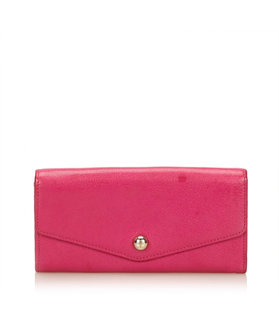 Image for Vintage Mulberry Leather Long Wallet Pink