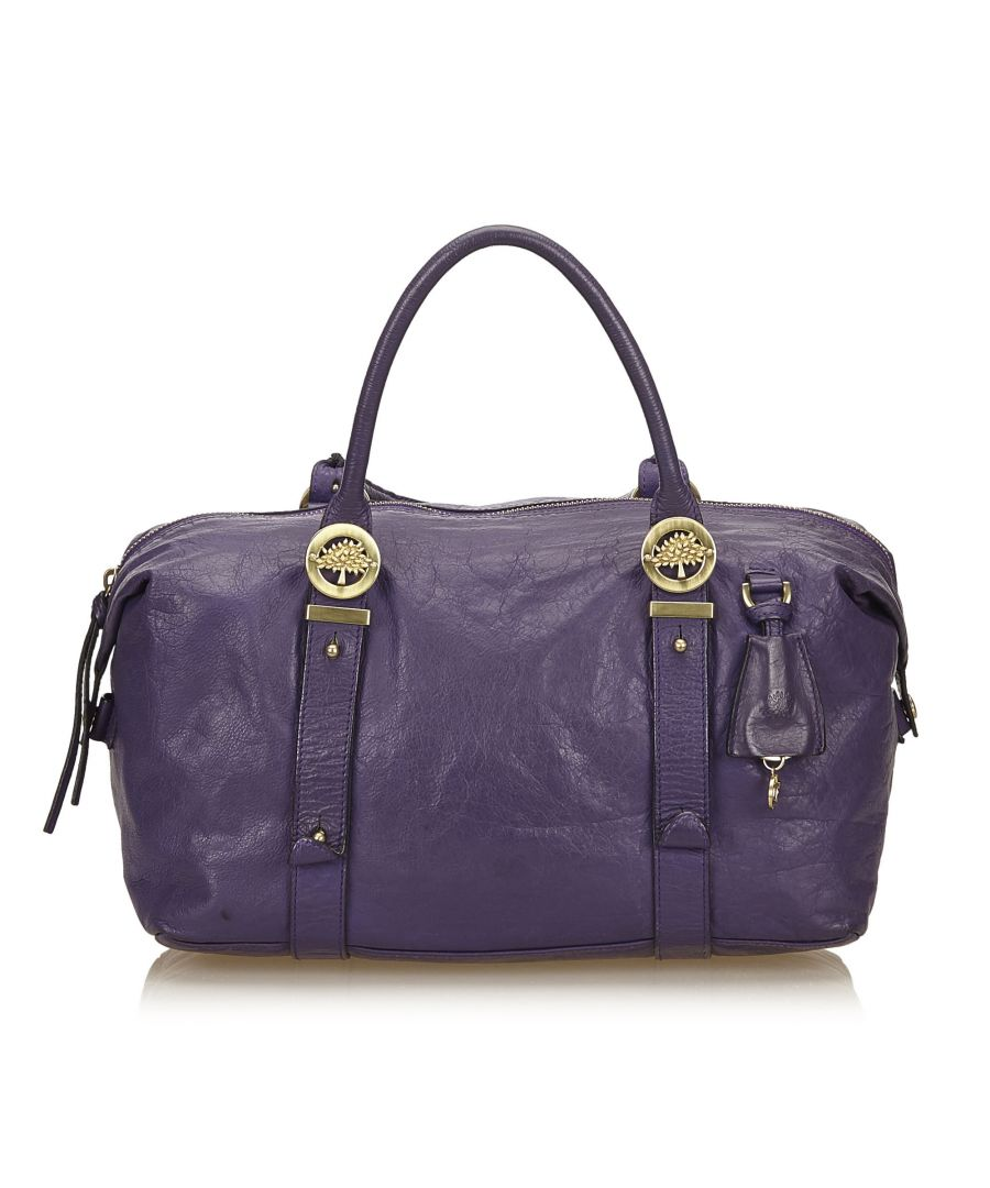 Image for Vintage Mulberry Leather Duffel Bag Purple