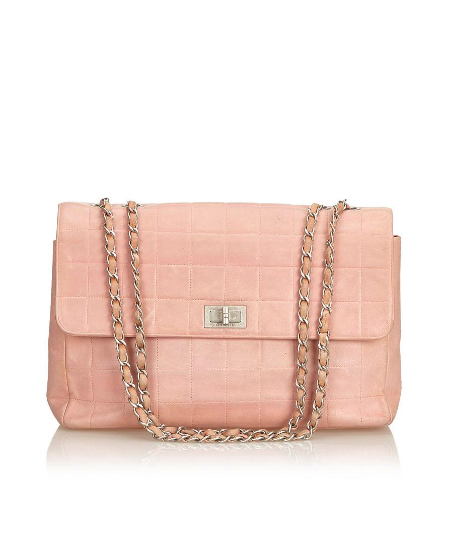 Image for Chanel Leather Choco Bar Shoulder Bag Pink