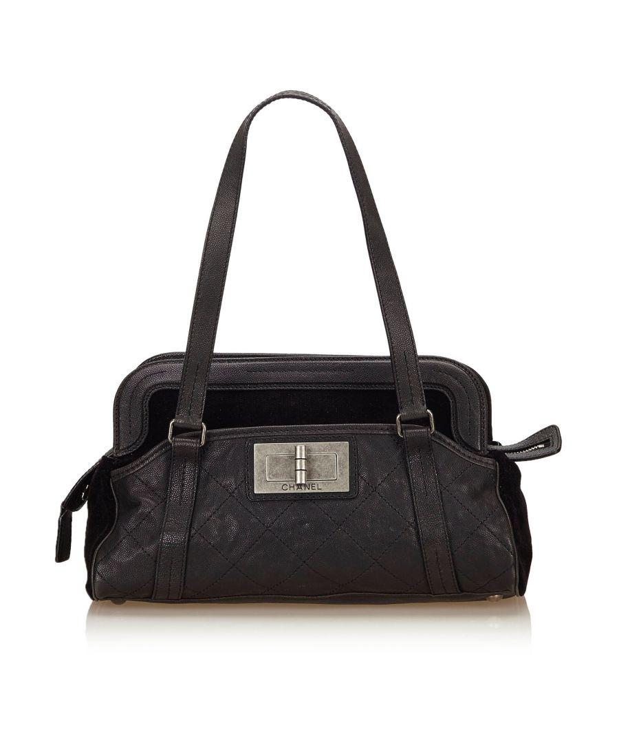 Image for Chanel Caviar Leather Reissue Shoulder Bag Black