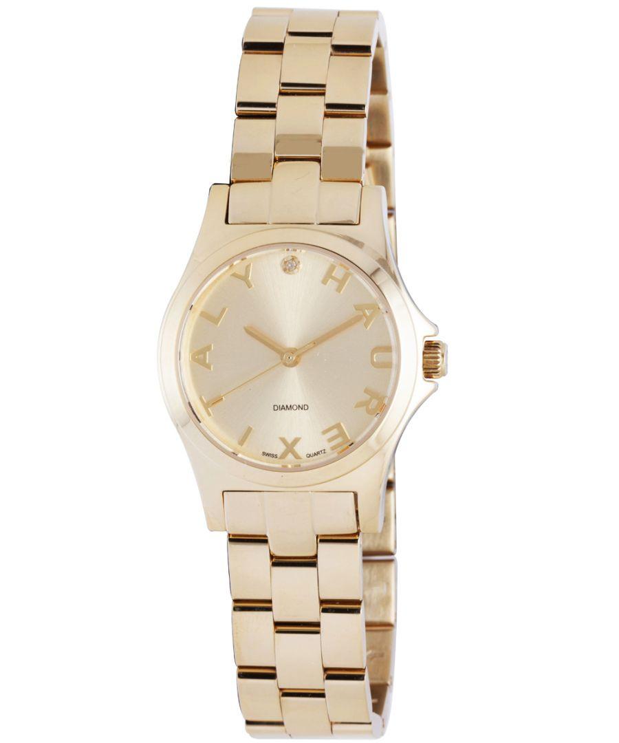 Image for Haurex Italy Women's 7Y505DCS Diamond-Accented Mini City Yellow Gold Bracelet Watch