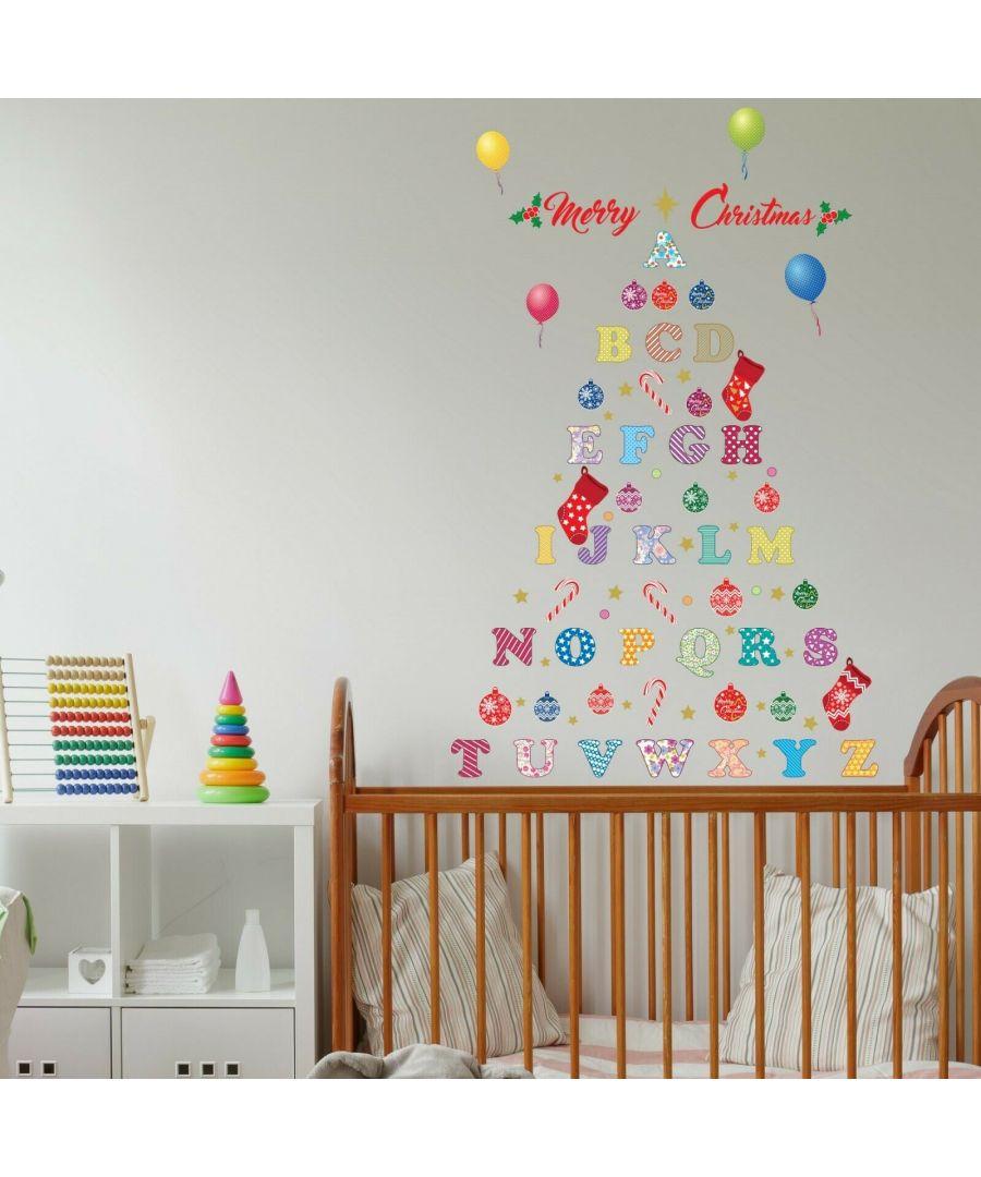Image for WFXC8307 - COM - WS6020 + WS3322 Nursery Alphabet Merry Christmas Tree