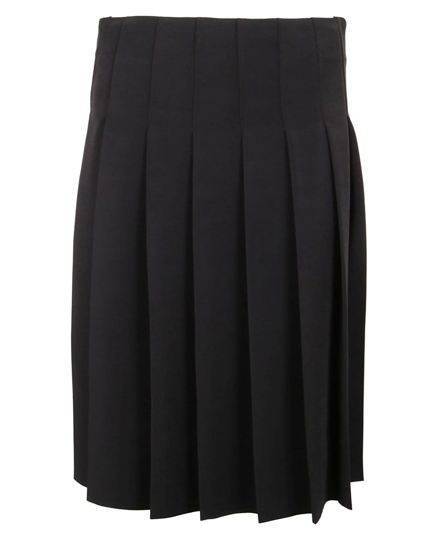 Image for CALVIN KLEIN WOMEN'S K20K201071018 BLACK POLYESTER SKIRT