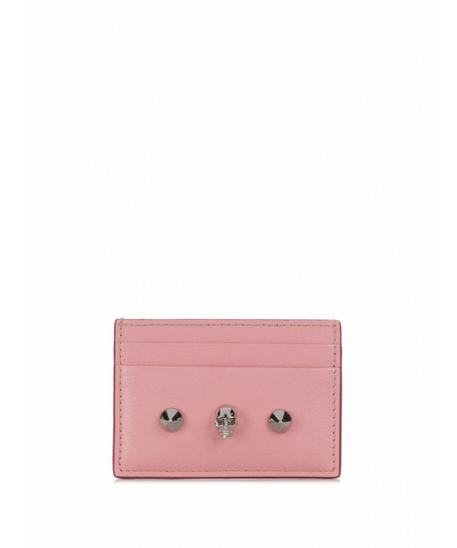 Image for ALEXANDER MCQUEEN WOMEN'S 6102061SM2I5750 PINK LEATHER CARD HOLDER