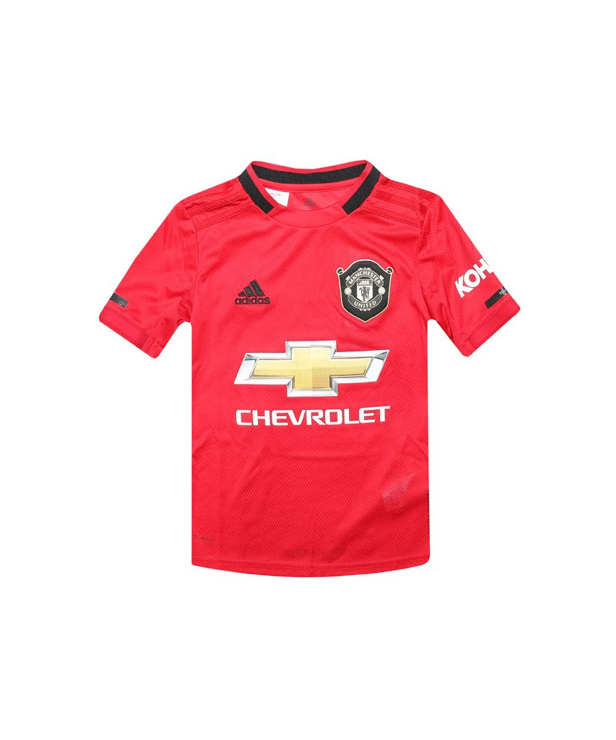 Image for Boys' adidas Junior Manchester United 2019-20 Home Jersey Red 7-8in Red