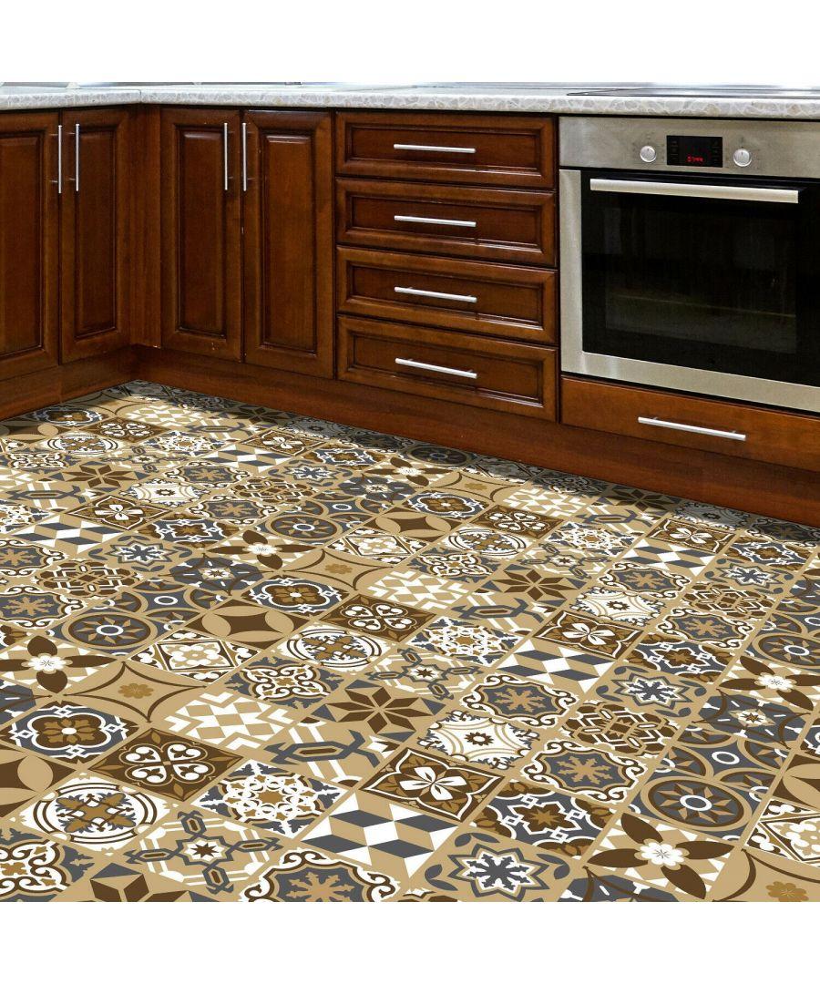 Image for WFS6006 - Dark Bronze Tiles Floor Sticker 120cm x 60 cm