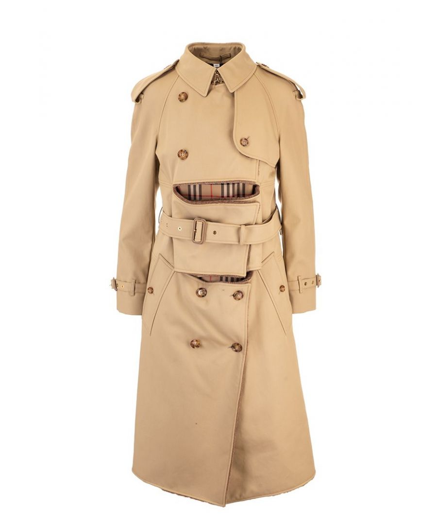 Image for BURBERRY WOMEN'S 4560611 BEIGE COTTON TRENCH COAT