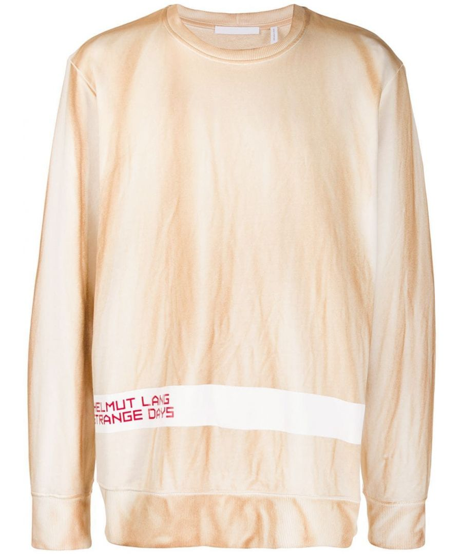 Image for HELMUT LANG MEN'S J04HM516WHT BEIGE COTTON SWEATSHIRT
