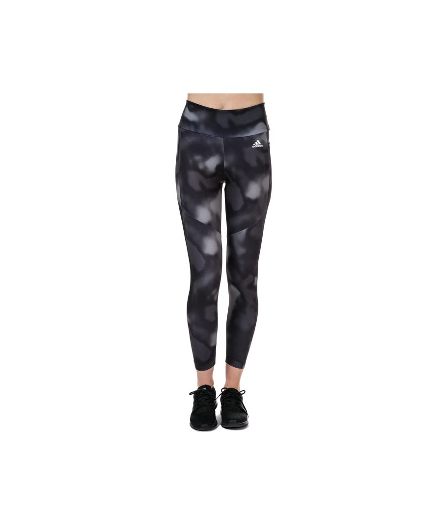 Image for Women's adidas D2M Allover Print 7/8 Tights in Black-White