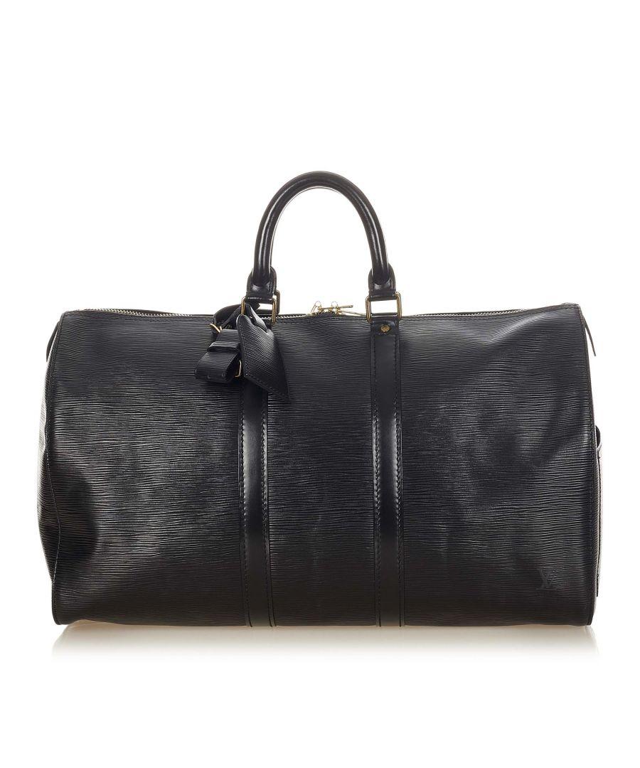 Image for Vintage Louis Vuitton Epi Keepall 45 Black