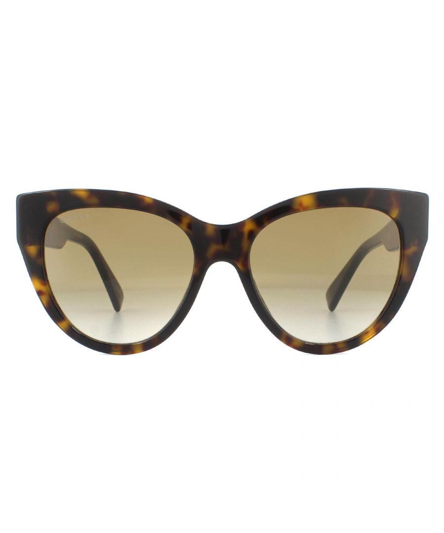 Image for Gucci Sunglasses GG0460S 002 Dark Havana Brown Gradient
