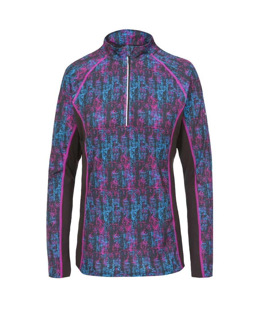 Image for Trespass Womens/Ladies Essie Long Sleeve Active Top (Pink Glow Print)