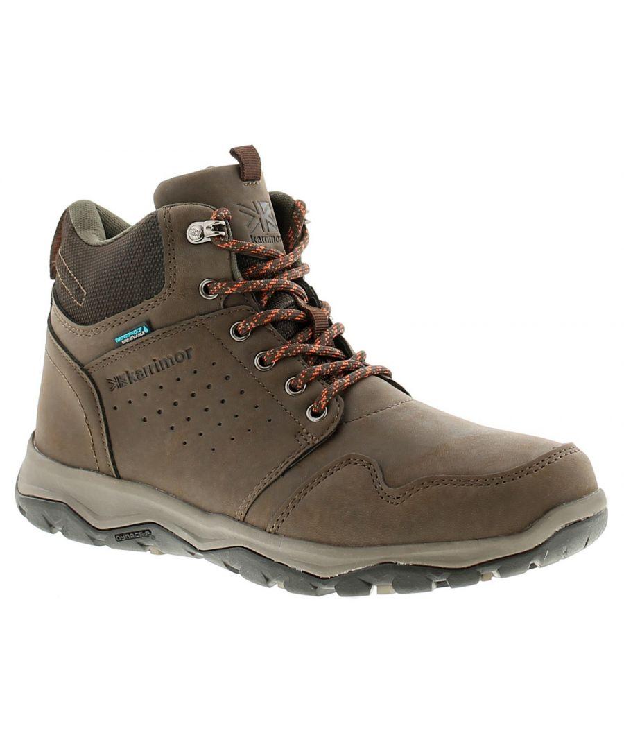 Image for Karrimor Taransay Mid Weather Mens Walking Hiking Boots Brown